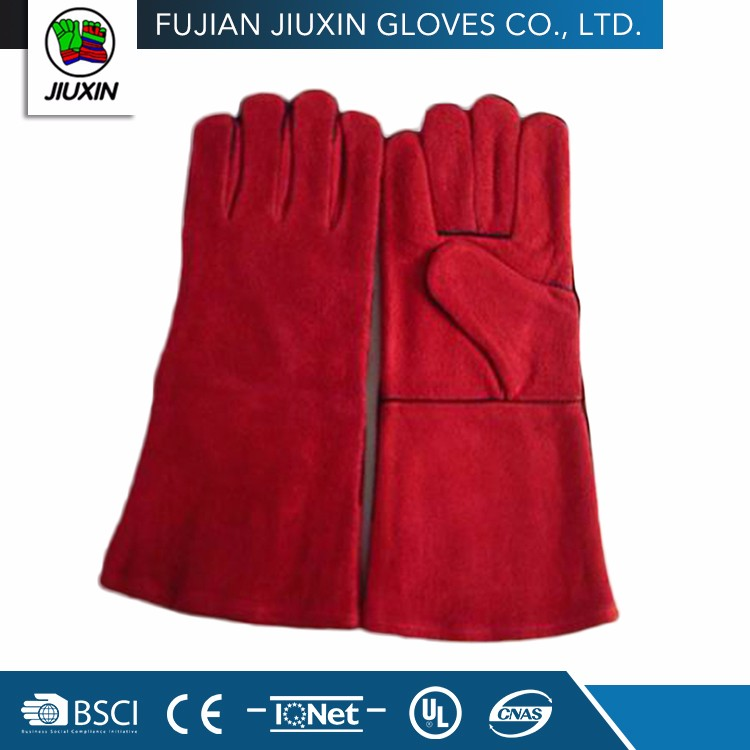 Factory Directly Provide Cow Split Leather Welding Safety Gloves