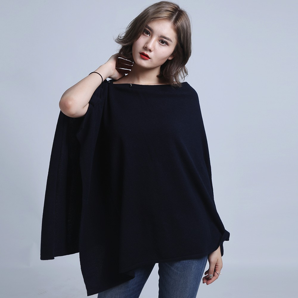 Factory High quality cashmere Promote price Fashion poncho for woman