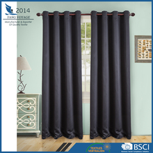 hot sale 100% Polyester meeting room & hotel using grommet 210gsm window blackout curtain