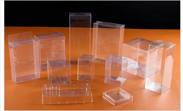 Environmentally friendly non-toxic PET Clear folding Plastic blister Packaging Box with food