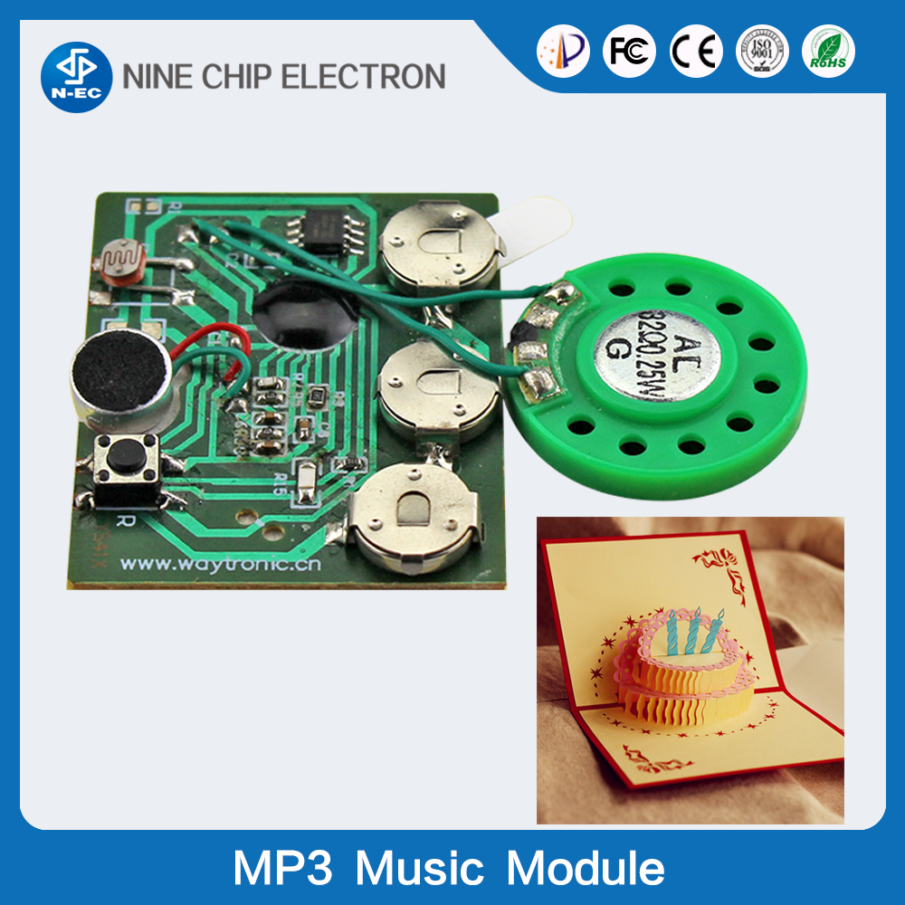 Audio recordable music module ic sound chip for birthday card