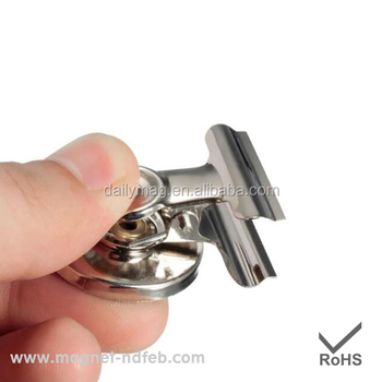 Factory Direct Sale Silver Magnetic Fridge Magnets with Clip