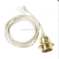 Cloth covered cable set Fixture Cable Cord Set Edison Bulb Socket Grounded Cable Set