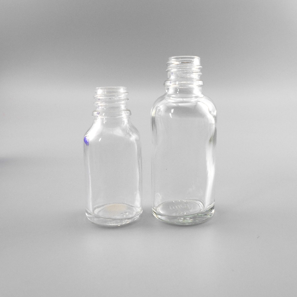 2017 New products 30ml boston round empty glass bottles wholesale Canada