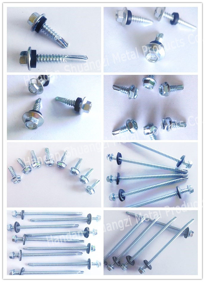 Hex head self drilling screw c1022 grade 4.8*16-100mm