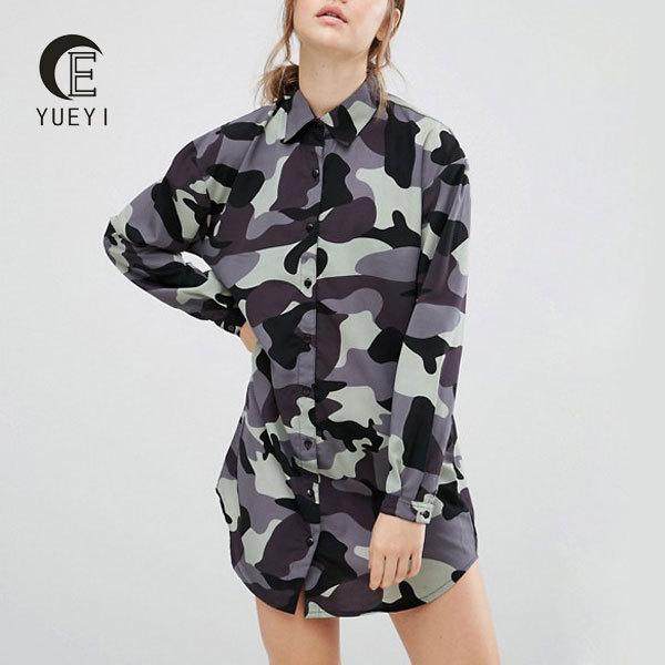 clothing manufacturer streetwear camouflage shirt dresses women summer dress