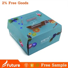Hot sale paper cup cake box with handle