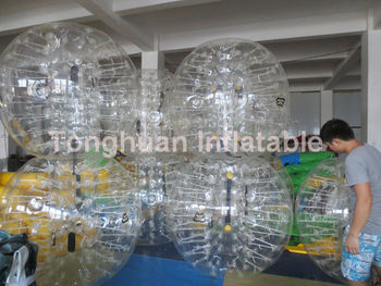 human inflatable bumper bubble ball