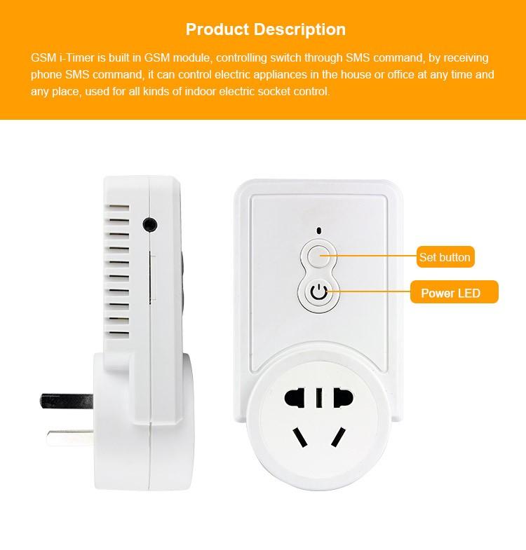 Телефона gsm sim-карты SMS Пульт дистанционного управления Портативный розетку с портом USB