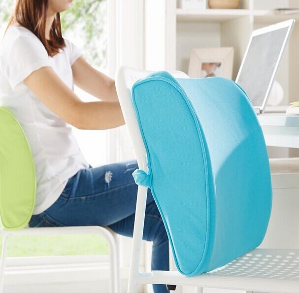 orthopedic lumbar support back car memory foam seat cushion