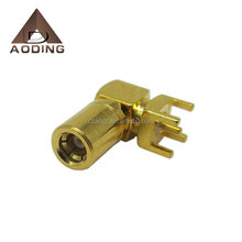 RF cable SMB female right angle connector