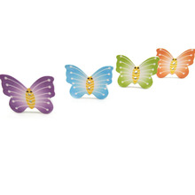 Great pattern easy instructions nature craft decorative flying butterfly shape wooden button