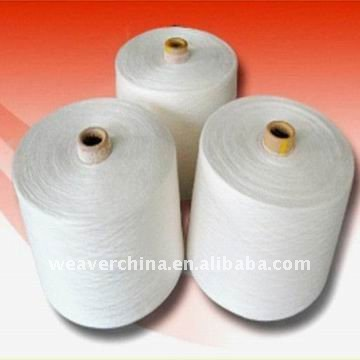 100 spun polyester wholesale undyed yarn