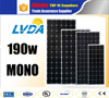 2016 hot selling Japan market mono solar products 190w Good quality best price Germany technology mono solar panel