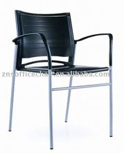 892BH-03 design fashionable plastic stacking chair with arm