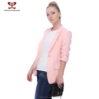 2015 Girls clothes Women Fashion suit jacket woman Long Sleeve Suit Ladies office uniform wear fuming Apparel