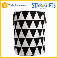 Wholesale New 2016 Triangles Pattern Large Round Cotton Laundry Bag With Handle