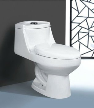 Ceramic One Piece Siphon Toilet