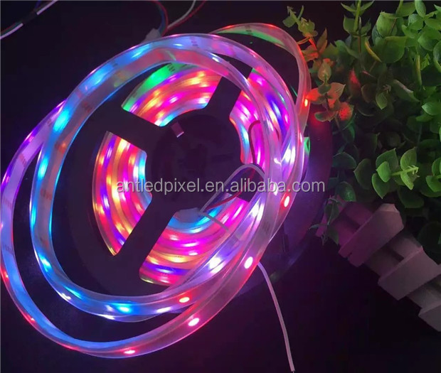 factory 12v flexible digital apa102 white color apa102 strip led strip 5050