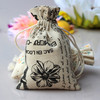 Wholesale fashional design jute gift bag/small fabric drawstring bags