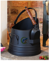 Fireplace decorative tools Black iron coal bucket and shovel