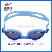 Silicone mirrored optical swimming goggles