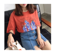 special fresh design style women fashion casual T-shirt and student short sleeved print T-shirt