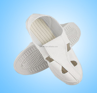wholesale high quality cleanroom 4 wholes esd PVC antistatic white shoes