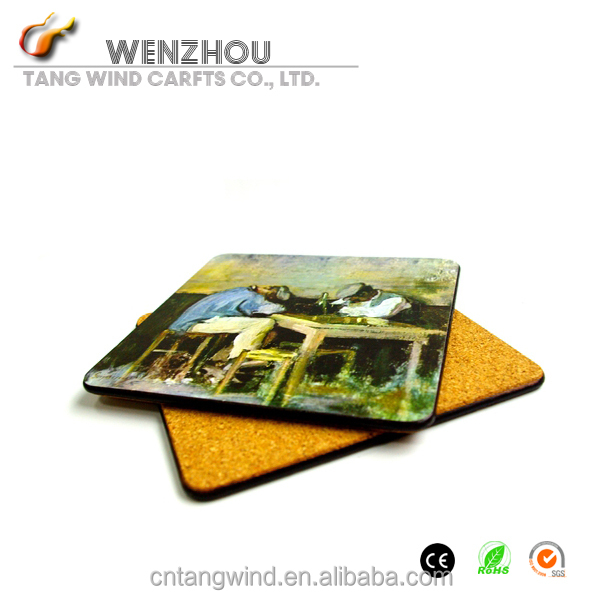 2014 OEM hot sale for business idea high quality cheap blank wood tea/drink/cup coasters