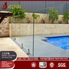 Safety swimming pool glass fence with clamp