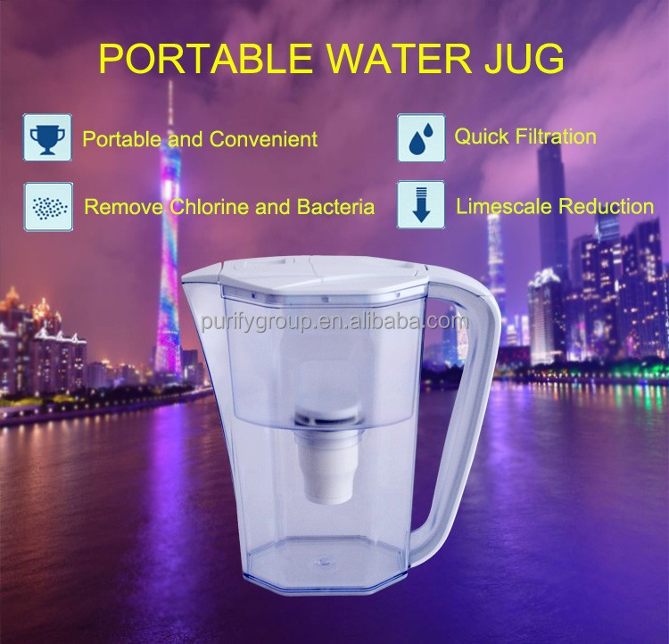 Good quality direct drinking composite filter water pitcher/ PP+CTO+UF membrane