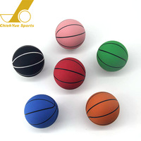 Wholesale Promotion Clear Mini Bounce Rubber Basketballball Ball for kid