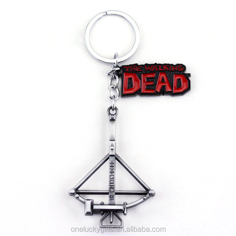 Horror Movie The walking dead Key chains Fear the Living Fight the Dead Daryl crossbow Keychain