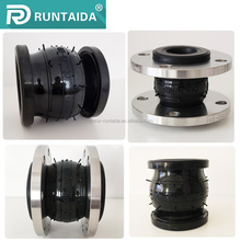 Fanged single sphere expansion joints rubber with tie rod in petroleum