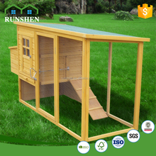Large Wooden Chicken House Pet Cages Open Run With Wire Construction mesh