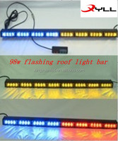 98w Flashing roof lights bar /LED Strobe light bar /emergency police car,fire car led waring flashing light bar