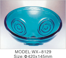 Glass Wash Basin Price New Design Double-layer Coloured Glass