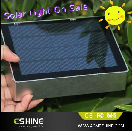 High power solar front door light with day night sensor