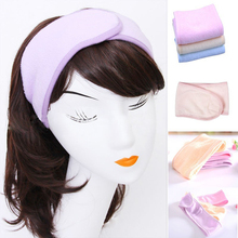 2018 wholesale terry cloth fabric yogo sport mke up spa bath shower <strong>headband</strong>