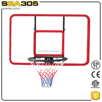 hanging basketball backboard with ring
