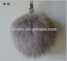 Genuine natural blue fox 12cm fox fur pom poms/Wholesale And Retail