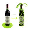 New Arrival Collapsible Picnic Multi-fuctional Single Bottle Silicone Wine Gifts Basket