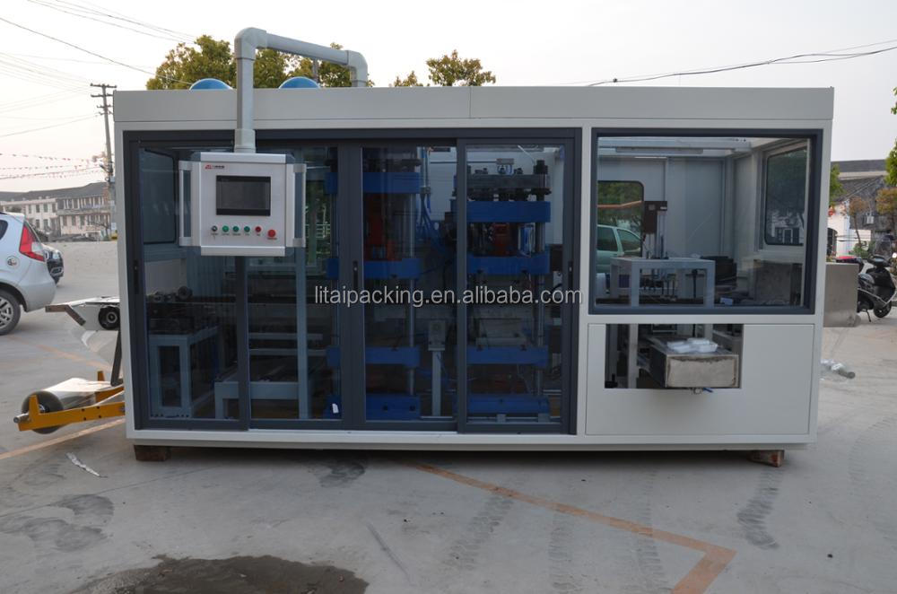 full automatic vacuum forming plastic food container making machine price