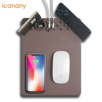 Newest Universal Wireless Charger Mouse Pad Charging For iPhone Mouse Pad Organizer