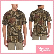 fashion design cool sublimated outdoor short t-shirt for men
