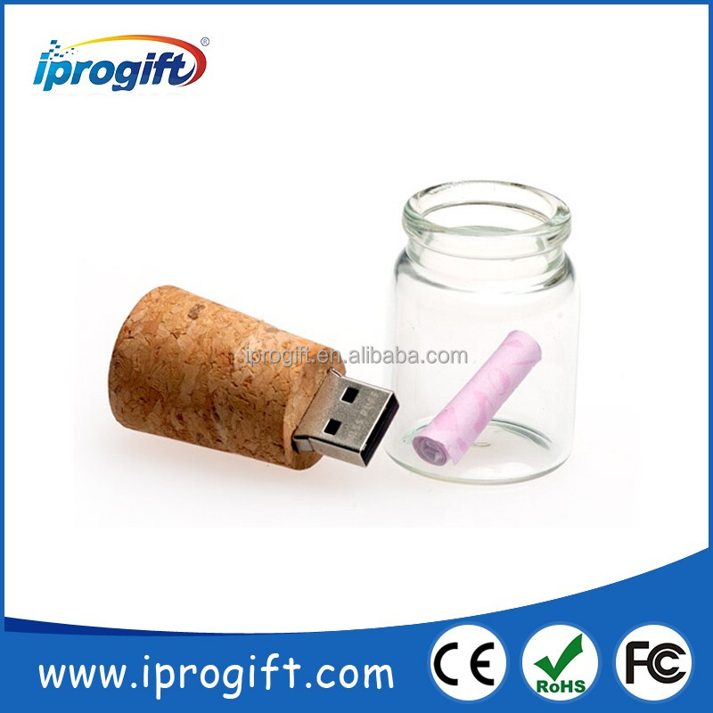 2016 wholesale Customized drift bottle usb flash drive bulk 1GB 2GB 4GB 8GB