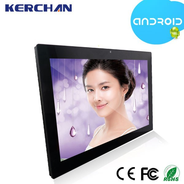 "15.6 "" VESA wall mount/table stand android ad led digital display video screen touch monitor"