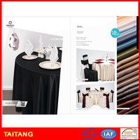 Good quality 100% polyester trendy oilproof 132 round tablecloths for wedding