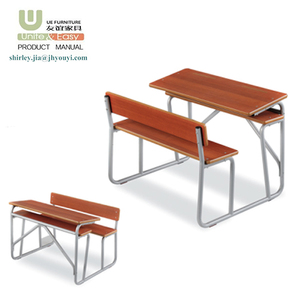 China manufactory low MOQ cheap price school furniture folding table with chair for calssroom combine desk and chair