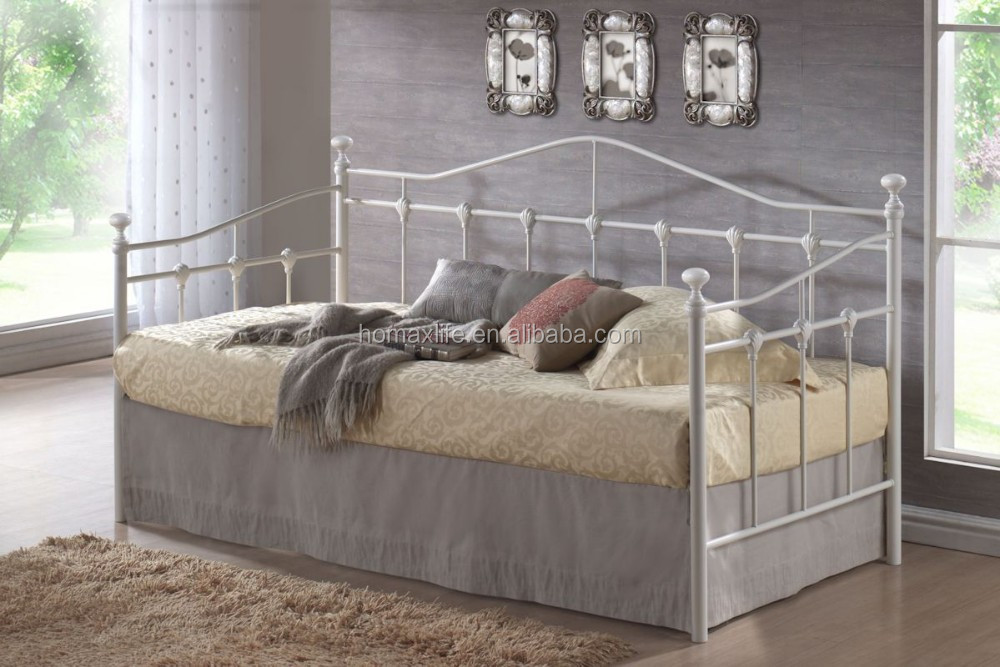 Nwe european style wrought metal iron sofa bed buy for Sofa cama vintage